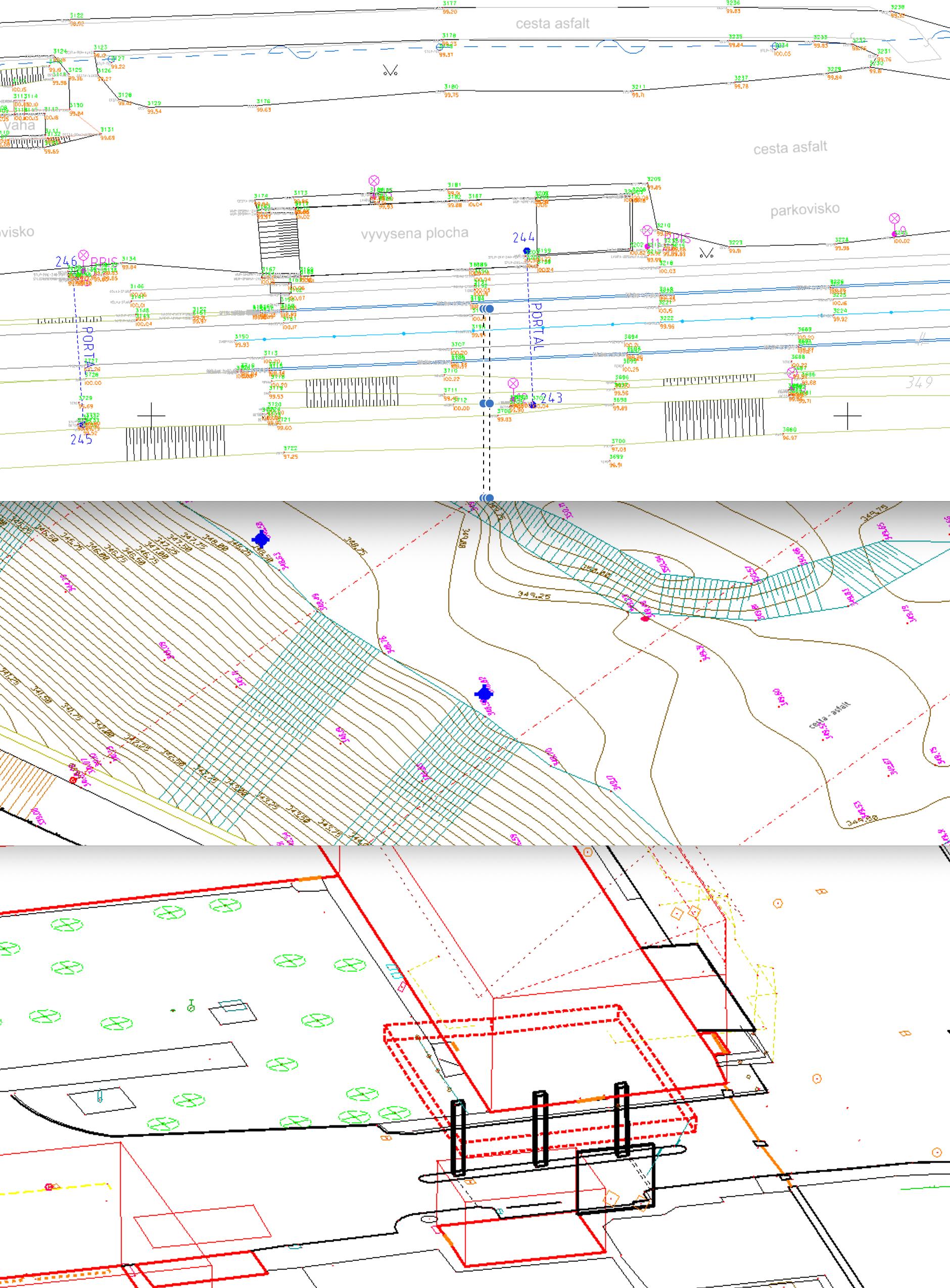 polohové a výškové zameranie územia pre projekt